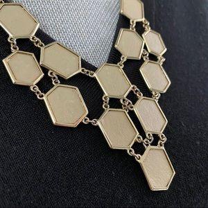 Gold Color Hexagon Necklace